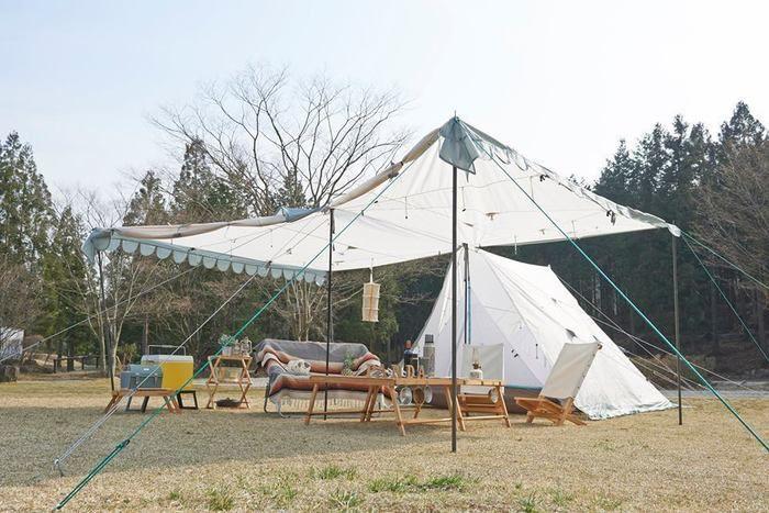 MEGA PANDAを利用したキャンプの様子