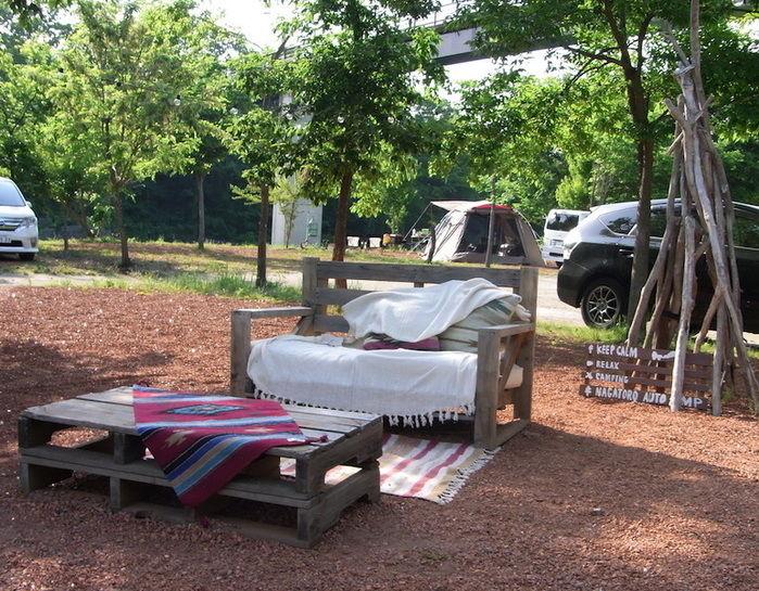 長瀞オートキャンプ場の休憩スペース