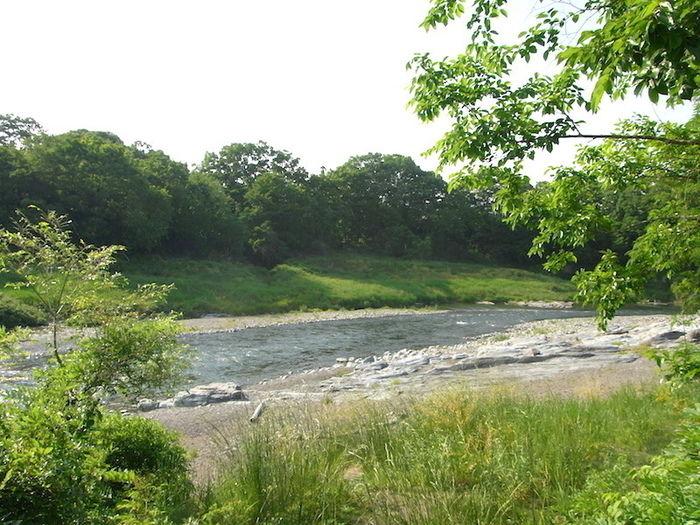 長瀞オートキャンプ場の目の前を流れる荒川