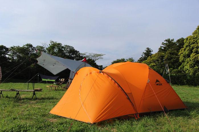 MSRのオレンジのテント