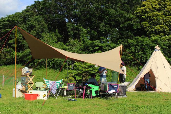 森のまきばオートキャンプ場で一際目立つノルディスクのコットンテント
