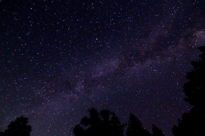 長野県の銀河もみじキャンプ場から見える夜空