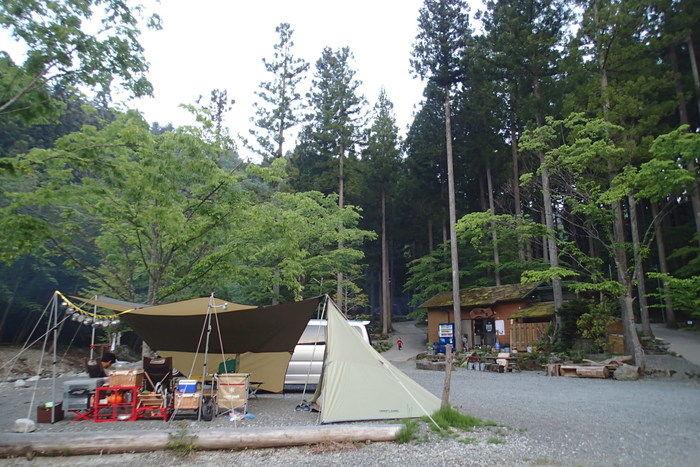 オートキャンプ長又でのキャンプの様子
