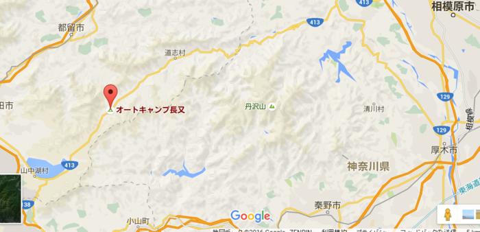 オートキャンプ長又の地図