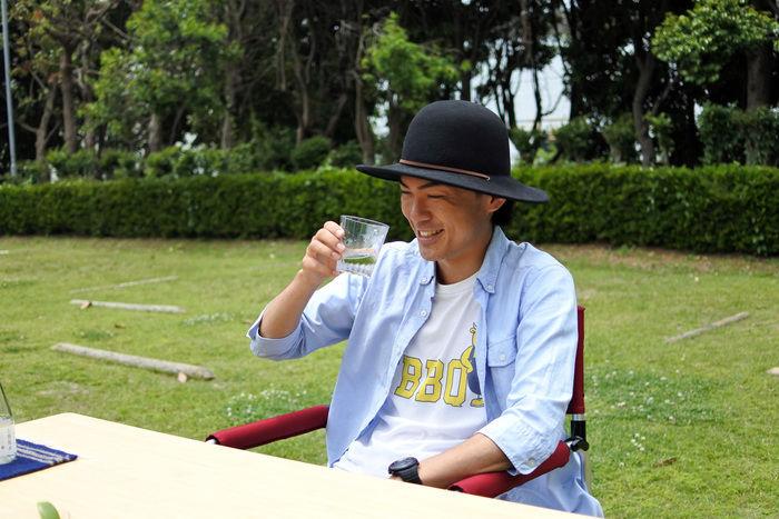 日本酒を飲むたけだバーベキューさん