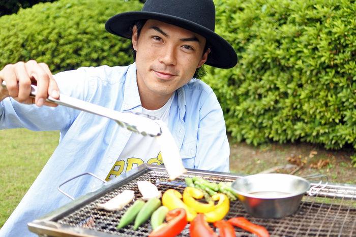 野菜を焼くたけだバーベキューさん