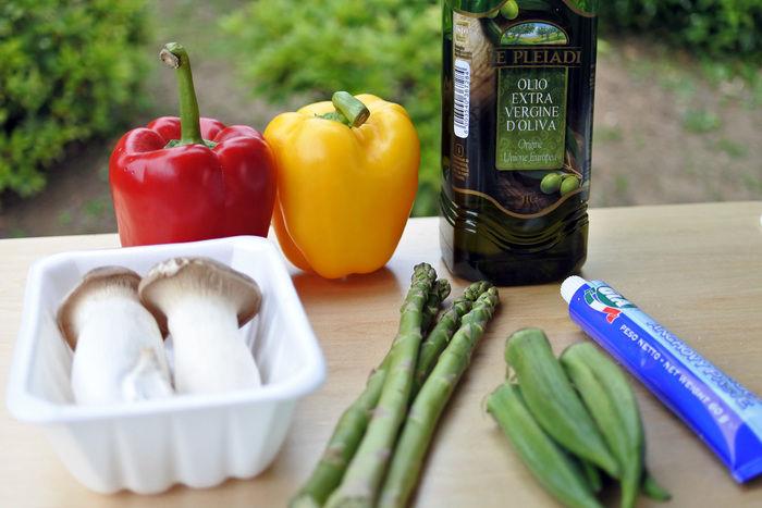 焼き野菜のバーニャカウダの材料