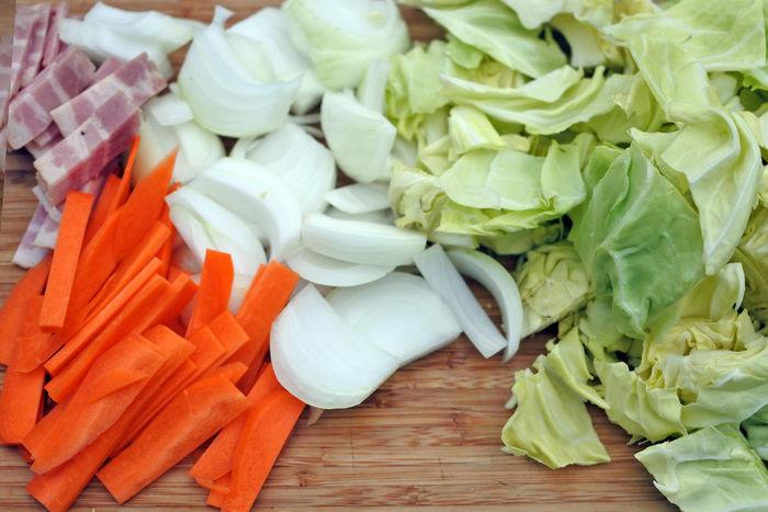 事前に下準備としてカットされた野菜