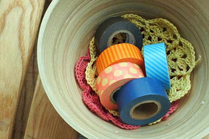 様々な色のマスキングテープ