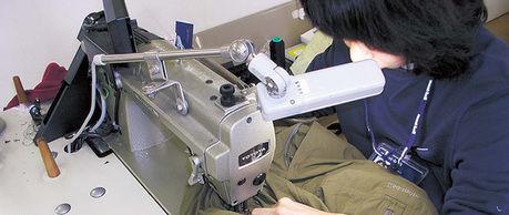 モンベルの製品の製造の様子
