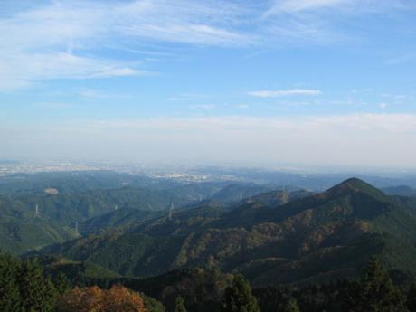 日の出山から見た景色