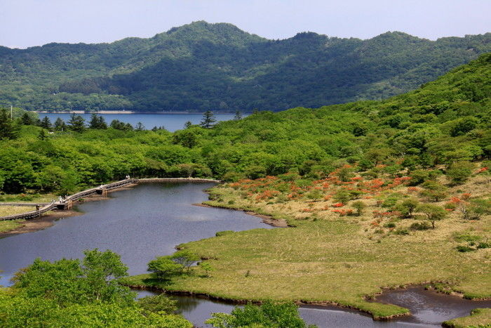 赤城山近くの湖