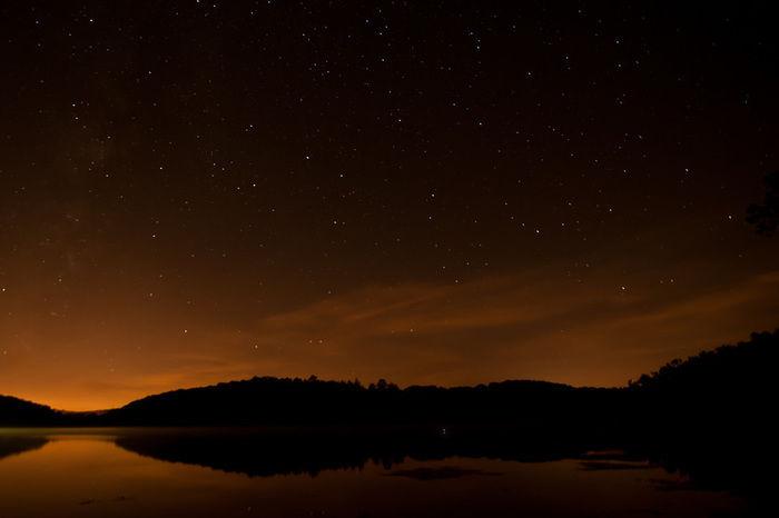 日没後の夜空