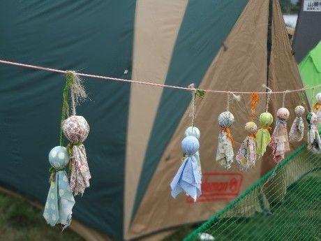 雨の日のテントの様子