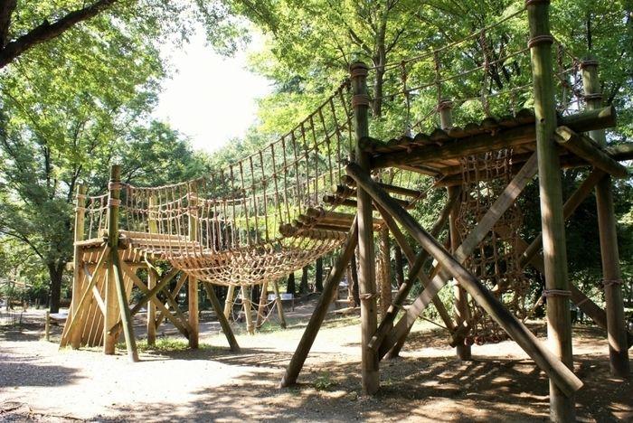 平和の森公園フィールドアスレチックのコース