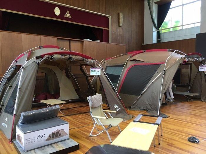 スノーピーク箕面自然館で展示されているテント