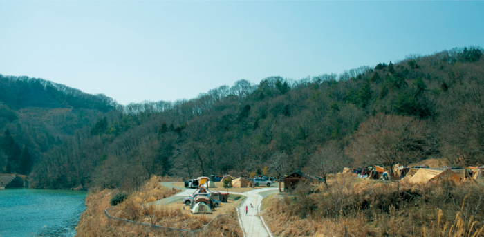 スノーピーク箕面自然館に併設されたキャンプ場