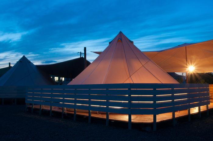 MIFUNE VILLAGEのテントの外観