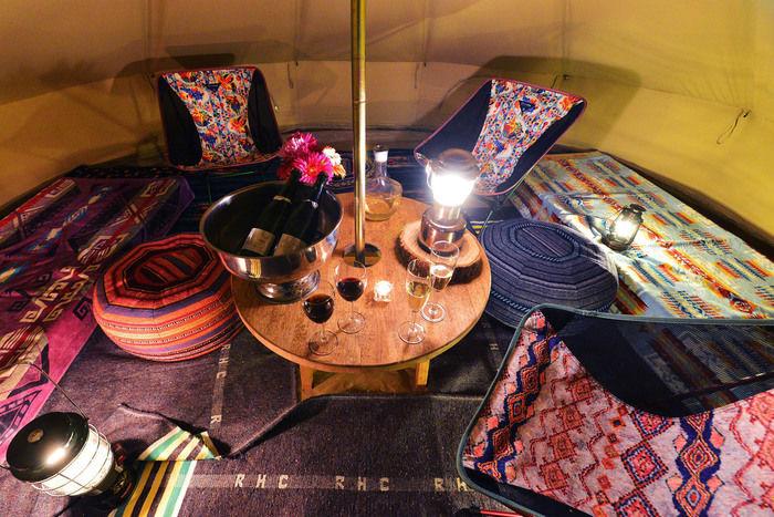 ロックヒルズガーデンのテントの内装