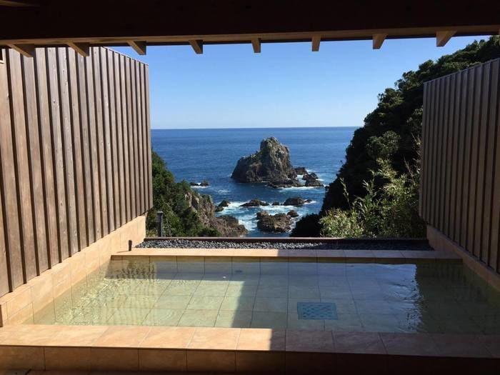 南紀串本リゾート大島の海を望む露天風呂