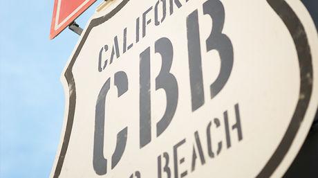 カリフォルニア バーベキュー ビーチの看板