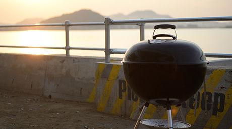 カリフォルニア バーベキュー ビーチで使われているweber社のバーベキューグリル