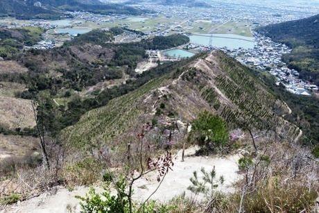 播磨アルプスの山頂から見た景色