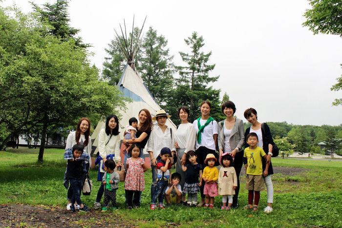 今回のイベントに参加したママと子供の集合写真