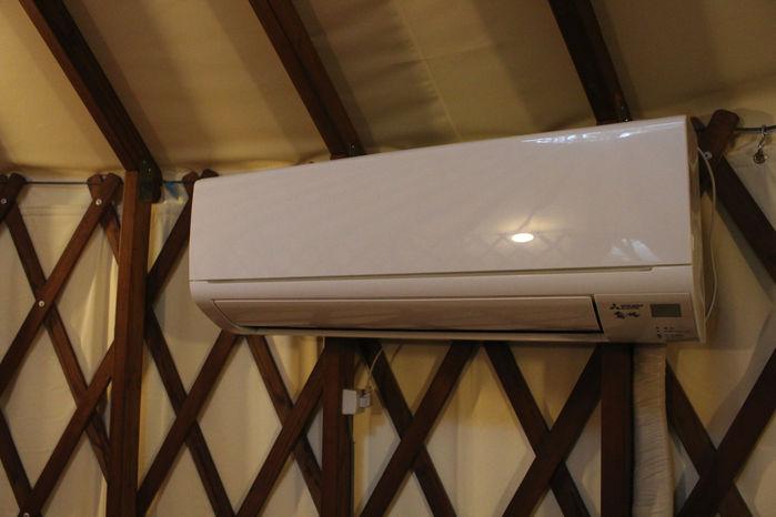 マッシュルームパオの室内にあるエアコン