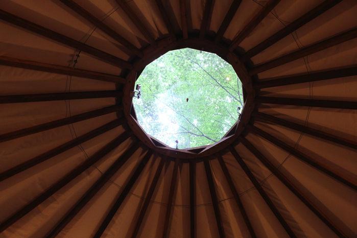 マッシュルームパオの天窓