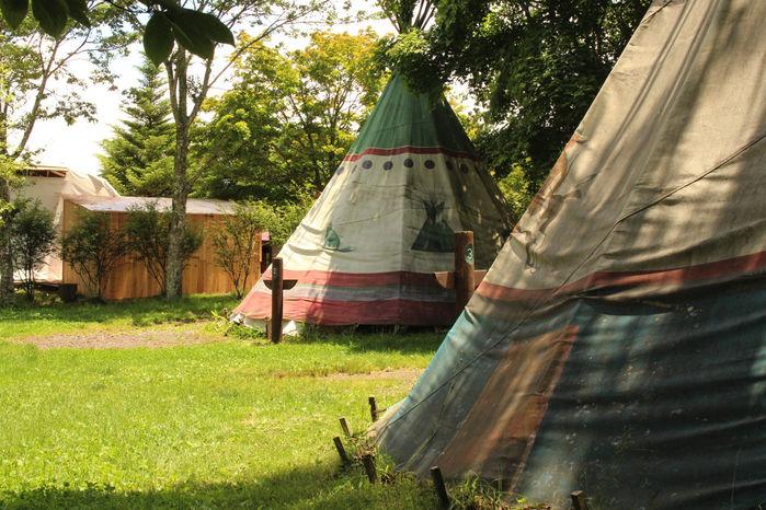 北軽井沢スウィートグラスに設置してあるテント
