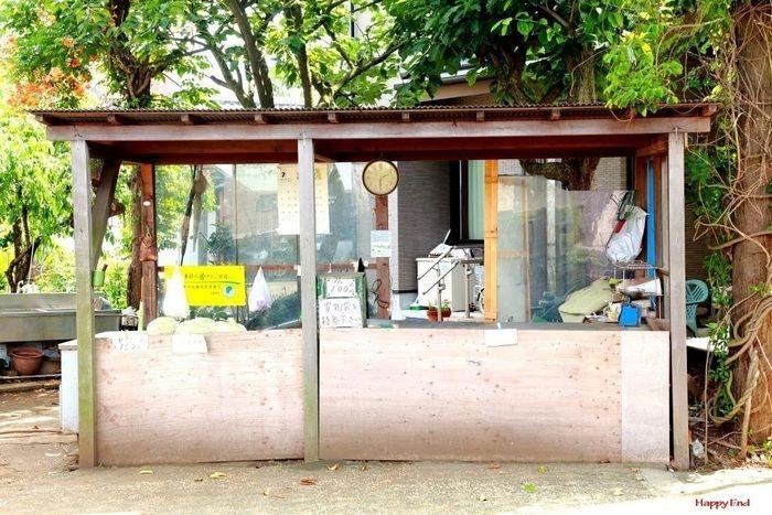 無人の野菜売り場