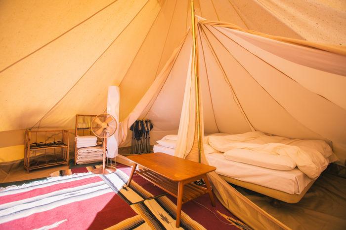 PICA秩父のテント内