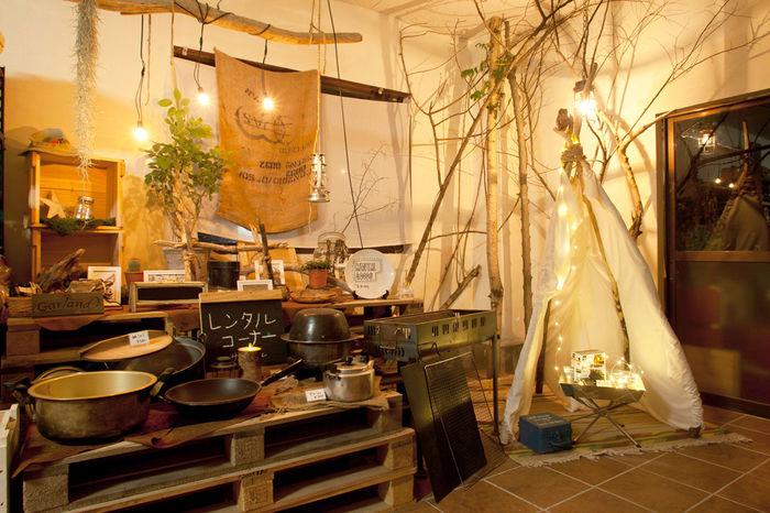 長瀞オートキャンプ場の売店のかわいい店内