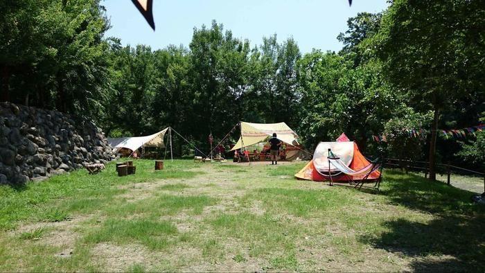 長瀞オートキャンプ場のキャンプサイト