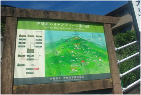 大山のハイキングコースマップ