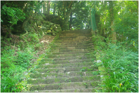 男坂の階段