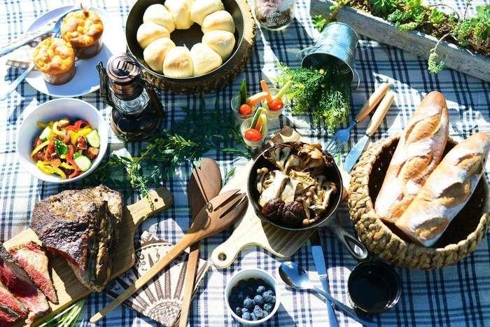 ロックヒルズガーデンの料理とテーブルコーディネート