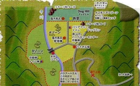 ウェルキャンプ西丹沢のマップ