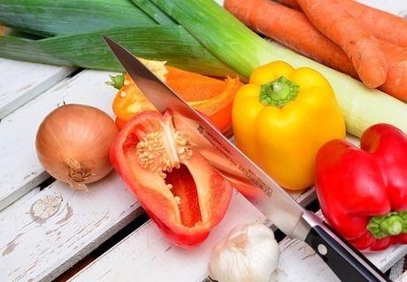 包丁と野菜