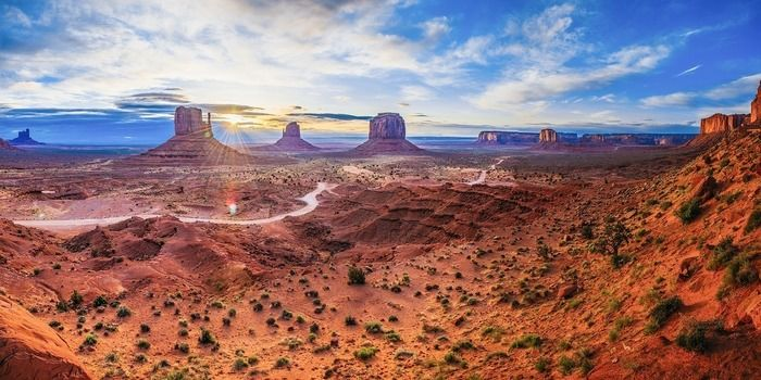 アメリカの南西部の景色