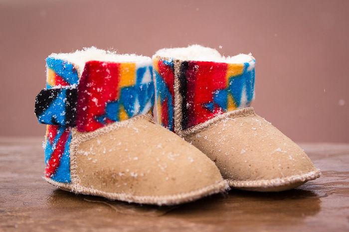 ナバホ柄のブーツ