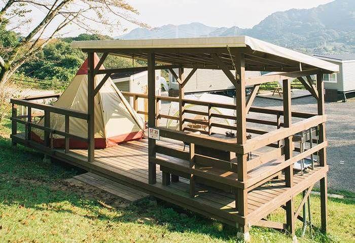 パディントンベア・キャンプグラウンドのキャンプサイト