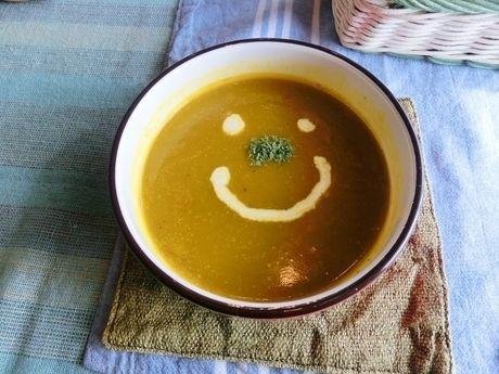 器に盛られたスープ