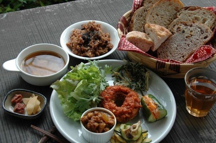長野県・安曇野にあるオーガニックレストラン&Cafe シャロムの料理