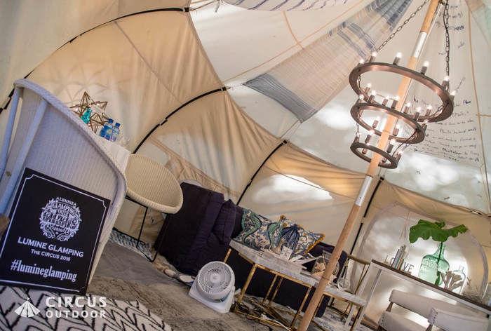 Blueberry Unicornのテントの内装