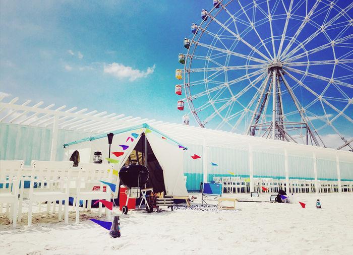 ワイルドビーチのグランピングテント