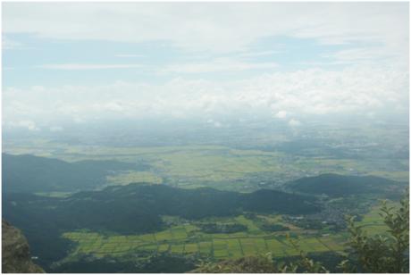 筑波山から見た町の様子