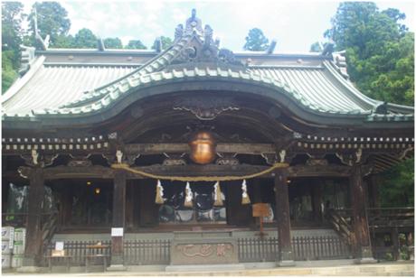 筑波山の神社の景観