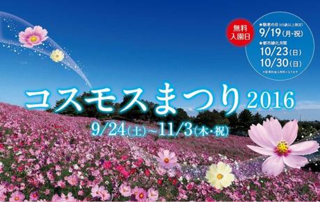 昭和記念公園のコスモス祭りの広告